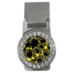 Special Fractal 04 Yellow Money Clip (cz)