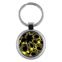 Special Fractal 04 Yellow Key Chain (Round)