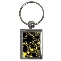 Special Fractal 04 Yellow Key Chain (Rectangle)
