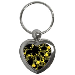 Special Fractal 04 Yellow Key Chain (Heart)
