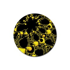 Special Fractal 04 Yellow Drink Coasters 4 Pack (Round)
