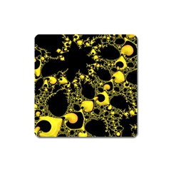 Special Fractal 04 Yellow Magnet (Square)