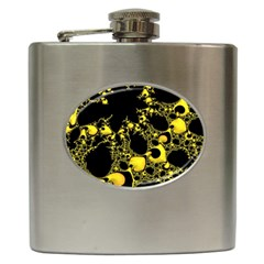 Special Fractal 04 Yellow Hip Flask