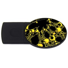 Special Fractal 04 Yellow 2gb Usb Flash Drive (oval)