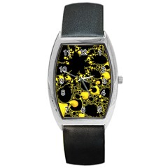 Special Fractal 04 Yellow Tonneau Leather Watch