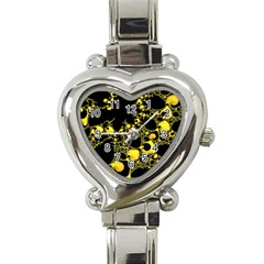 Special Fractal 04 Yellow Heart Italian Charm Watch