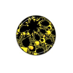 Special Fractal 04 Yellow Golf Ball Marker 10 Pack (for Hat Clip)