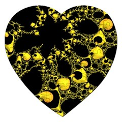Special Fractal 04 Yellow Jigsaw Puzzle (Heart)