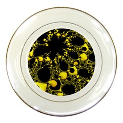 Special Fractal 04 Yellow Porcelain Display Plate
