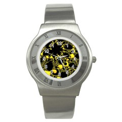 Special Fractal 04 Yellow Stainless Steel Watch (Slim)