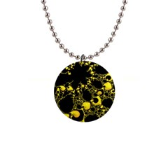 Special Fractal 04 Yellow Button Necklace