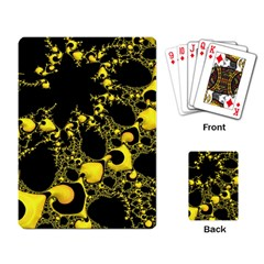 Special Fractal 04 Yellow Playing Cards Single Design