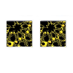 Special Fractal 04 Yellow Cufflinks (square)