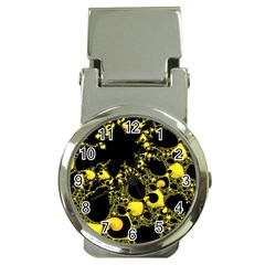 Special Fractal 04 Yellow Money Clip With Watch