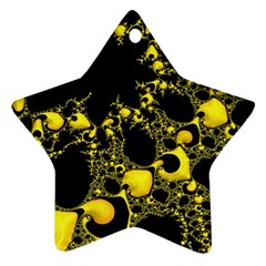 Special Fractal 04 Yellow Star Ornament (two Sides)