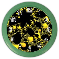 Special Fractal 04 Yellow Wall Clock (Color)