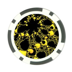 Special Fractal 04 Yellow Poker Chip