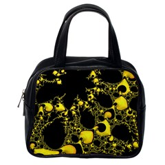 Special Fractal 04 Yellow Classic Handbag (one Side)