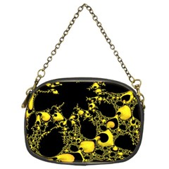 Special Fractal 04 Yellow Chain Purse (two Sided)