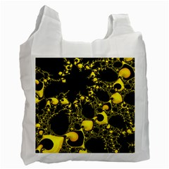 Special Fractal 04 Yellow White Reusable Bag (two Sides)