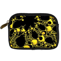 Special Fractal 04 Yellow Digital Camera Leather Case