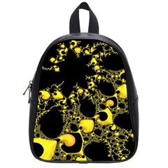 Special Fractal 04 Yellow School Bag (small)