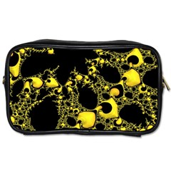Special Fractal 04 Yellow Travel Toiletry Bag (One Side)