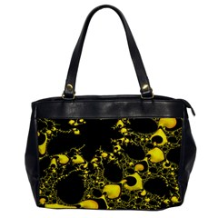 Special Fractal 04 Yellow Oversize Office Handbag (One Side)