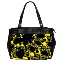 Special Fractal 04 Yellow Oversize Office Handbag (two Sides)