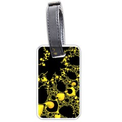 Special Fractal 04 Yellow Luggage Tag (two Sides)