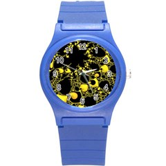 Special Fractal 04 Yellow Plastic Sport Watch (small)