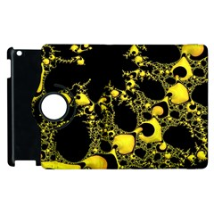 Special Fractal 04 Yellow Apple iPad 3/4 Flip 360 Case