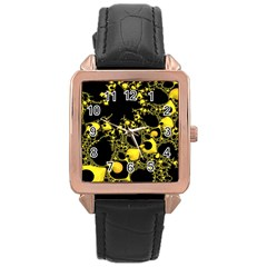 Special Fractal 04 Yellow Rose Gold Leather Watch