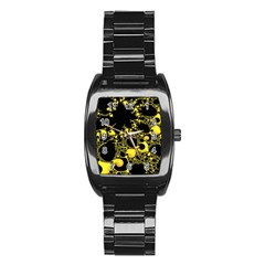 Special Fractal 04 Yellow Stainless Steel Barrel Watch
