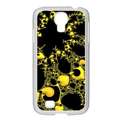 Special Fractal 04 Yellow Samsung GALAXY S4 I9500/ I9505 Case (White)