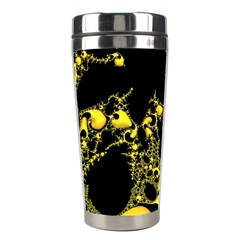 Special Fractal 04 Yellow Stainless Steel Travel Tumbler