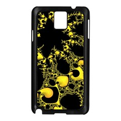 Special Fractal 04 Yellow Samsung Galaxy Note 3 N9005 Case (Black)