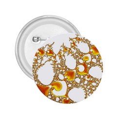 Special Fractal 04 Orange 2.25  Button