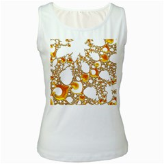 Special Fractal 04 Orange Women s Tank Top (White)