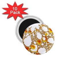 Special Fractal 04 Orange 1.75  Button Magnet (10 pack)