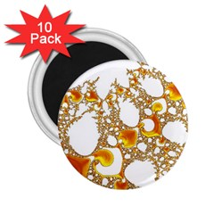 Special Fractal 04 Orange 2.25  Button Magnet (10 pack)
