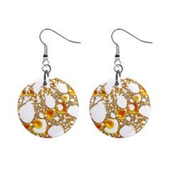 Special Fractal 04 Orange Mini Button Earrings