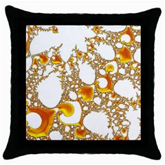 Special Fractal 04 Orange Black Throw Pillow Case