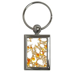 Special Fractal 04 Orange Key Chain (Rectangle)