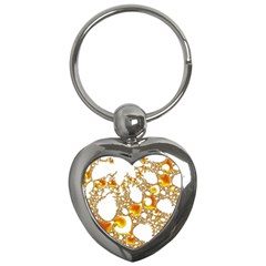 Special Fractal 04 Orange Key Chain (heart)