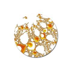 Special Fractal 04 Orange Magnet 3  (Round)