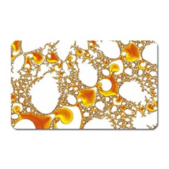 Special Fractal 04 Orange Magnet (rectangular)