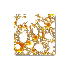 Special Fractal 04 Orange Magnet (Square)