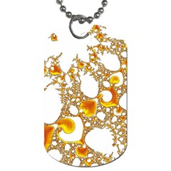 Special Fractal 04 Orange Dog Tag (One Sided)