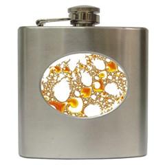 Special Fractal 04 Orange Hip Flask